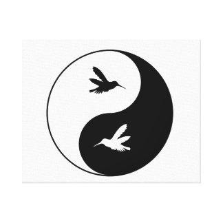 Colibris de Yin Yang Toiles