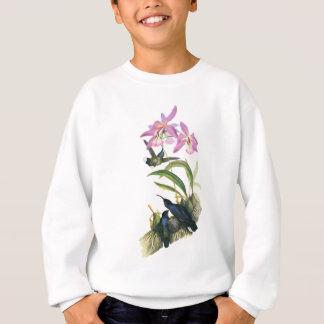 Colibris et orchidées roses sweatshirt