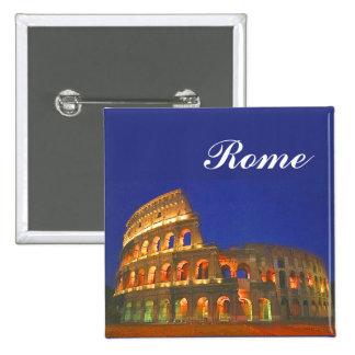 Colisé romain badge carré 5 cm