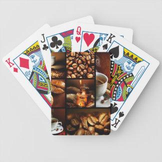 Collage 2 de café jeu de poker