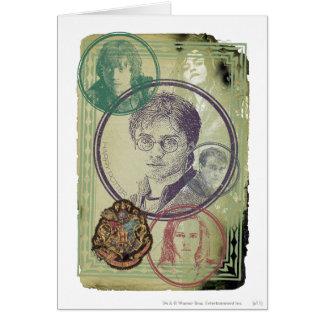 Collage 9 de Harry Potter Carte De Vœux