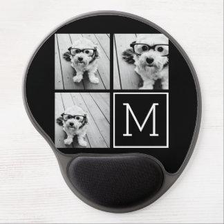 Collage à la mode noir et blanc de photo avec le tapis de souris gel