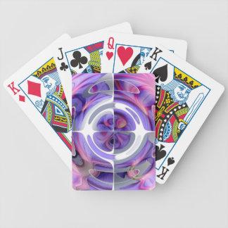 Collage abstrait de pourpre et de rose jeu de poker