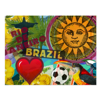collage Amérique de voyage de Rio de Janeiro Carte Postale
