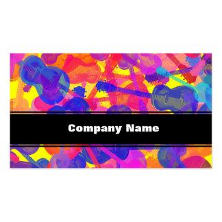 Collage coloré de guitare modèles de cartes de visite