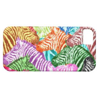 Collage coloré de troupeau de zèbre coque iPhone 5