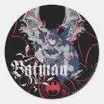 Collage d'aile de Batman Sticker Rond