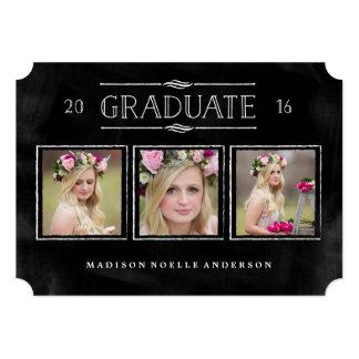 Collage dans l'invitation d'obtention du diplôme carton d'invitation  12,7 cm x 17,78 cm