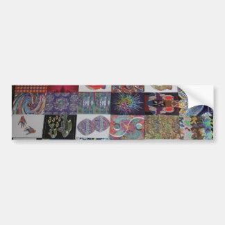 Collage d'art de SALUTATIONS Autocollant Pour Voiture