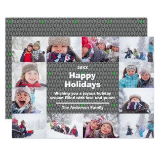 Collage de 12 photos bonnes fêtes - carte de Noël
