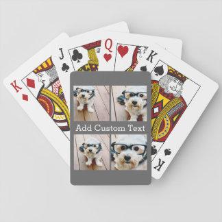 Collage de 4 photos - choisissez VOTRE COULEUR Cartes À Jouer