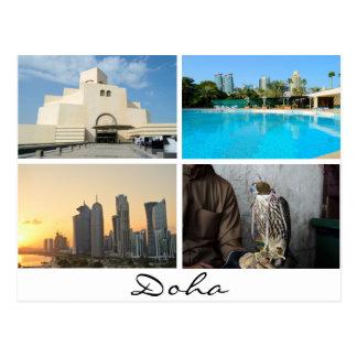 Collage de 4 photos en carte postale de Doha