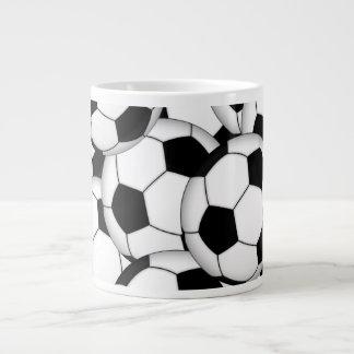 Collage de ballon de football mug