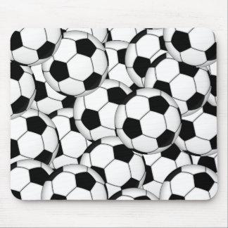 Collage de ballon de football tapis de souris