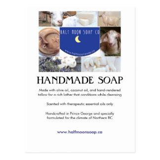 Collage de carte d'information de savon de carte postale
