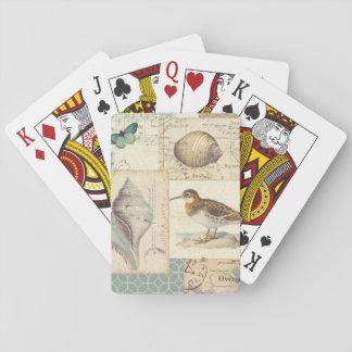 Collage de coquillage jeux de cartes