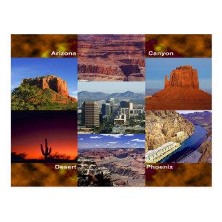 Collage de désert de l'Arizona Cartes Postales