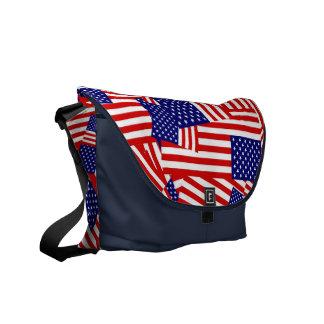 Collage de drapeau américain sacoche