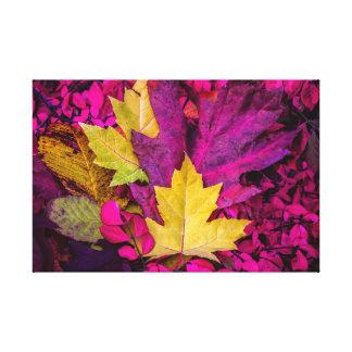 Collage de feuille d'automne par Thomas Minutolo Toiles