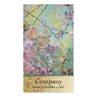 Collage de fleurs de cerisier cartes de visite personnelles