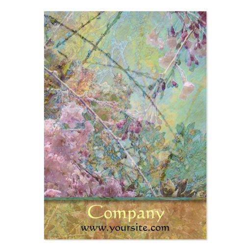 Collage de fleurs de cerisier cartes de visite professionnelles