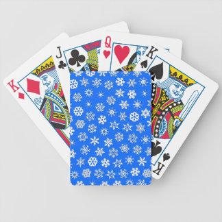Collage de flocons de neige jeu de cartes