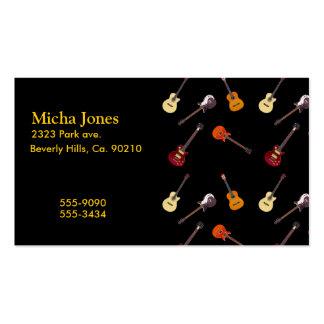 Collage de guitare électrique et acoustique carte de visite standard