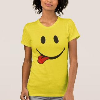 Collage de l'emoji de langue t-shirt