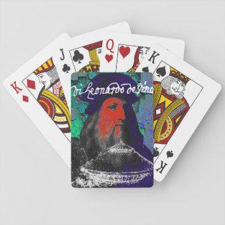 Collage de médias mélangés de génie de Leonardo da Cartes À Jouer