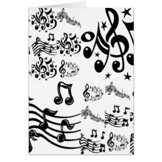 Collage de note musicale carte de vœux