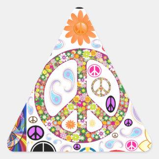 Collage de paix sticker triangulaire