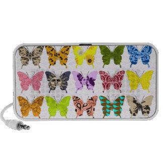 Collage de papillon haut-parleurs portables