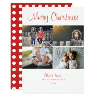 Collage de photo de Joyeux Noël du carte photo |