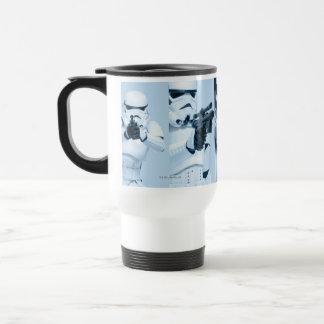 Collage de photo de soldat de la cavalerie de mug de voyage en acier inoxydable