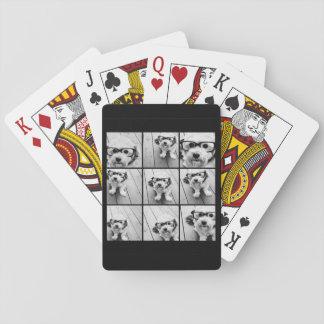 Collage de photo d'Instagram avec 9 photos Jeux De Cartes