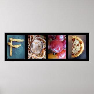 Collage de photographie d'alphabet, art de mot de posters