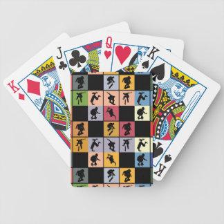 Collage de planchistes d'art de bruit jeux de cartes
