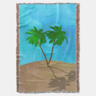 Collage de scène de plage de palmier d'aquarelle couverture