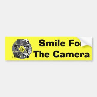 Collage de temps d'appareil-photo autocollant de voiture