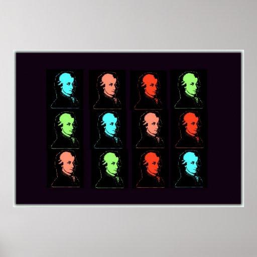 Collage de Wolfgang Amadeus Mozart Affiche