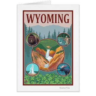 Collage de WyomingWyoming Carte De Vœux