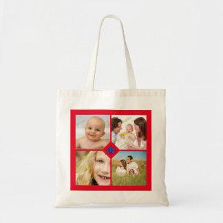 Collage d'ensemble de photo tout arrière - plan de sacs en toile