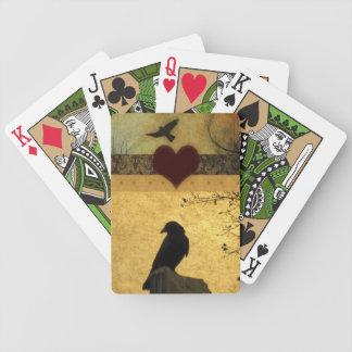 Collage des corneilles cartes à jouer