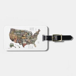 Collage d'état des Etats-Unis Étiquettes Bagages