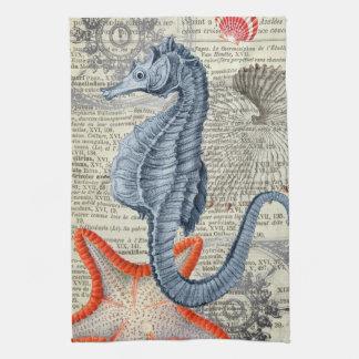 Collage d'hippocampe linge de cuisine