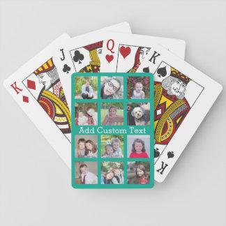 Collage d'Instagram de 12 photos avec l'arrière - Jeu De Cartes