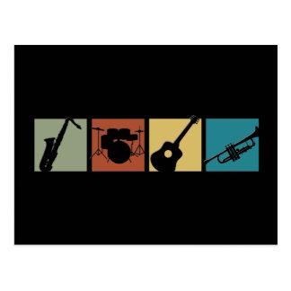 Collage d'instrument de musique cartes postales