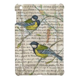 collage d'oiseaux de chickadees étuis iPad mini