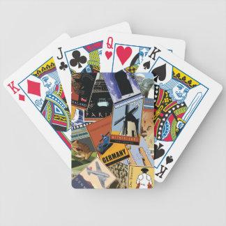 Collage du monde cartes à jouer