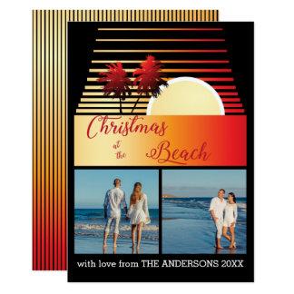 Collage élégant de photo de coucher du soleil de carton d'invitation  12,7 cm x 17,78 cm
